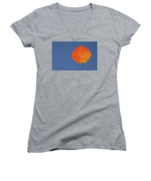 Aspen Leaf 1 Women's V-Neck