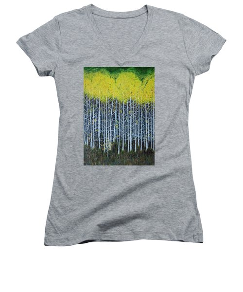 Aspen Stand The Painting Women's V-Neck