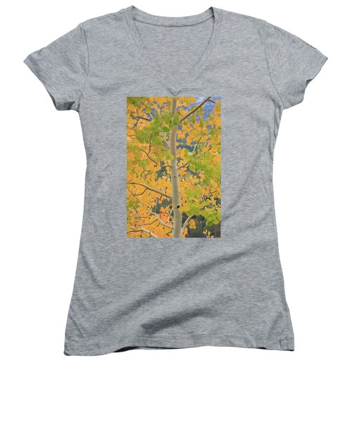 Aspen Watching You Women's V-Neck T-Shirt
