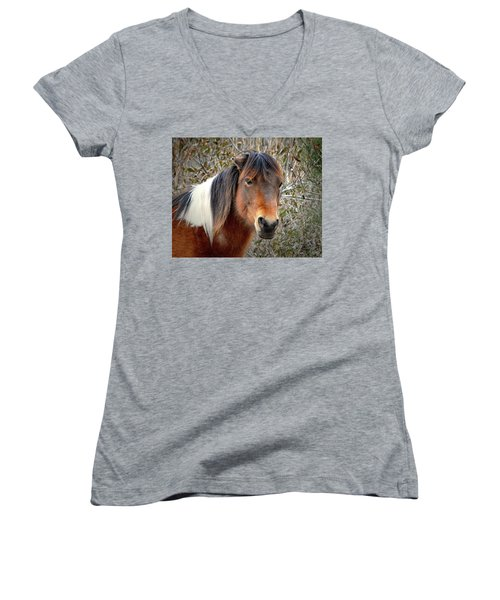 Assateague Island Pony Patricia Irene Women's V-Neck