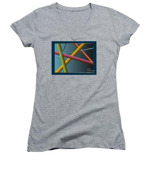 Assumption Women's V-Neck T-Shirt (Junior Cut) by Leo Symon