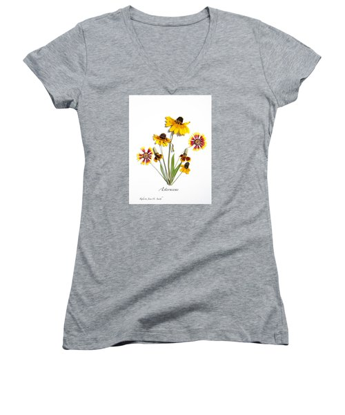 Asteraceae Women's V-Neck T-Shirt