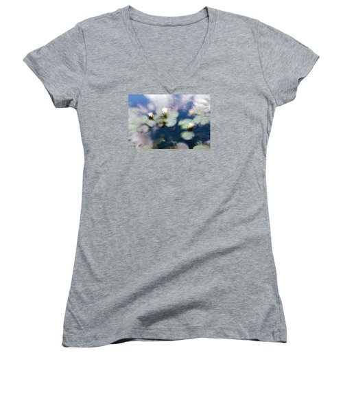 At Claude Monet's Water Garden 4 Women's V-Neck (Athletic Fit)