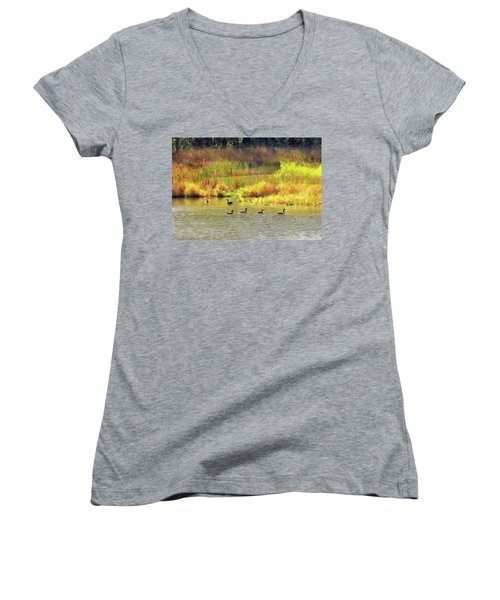 At Home In Monee Women's V-Neck T-Shirt
