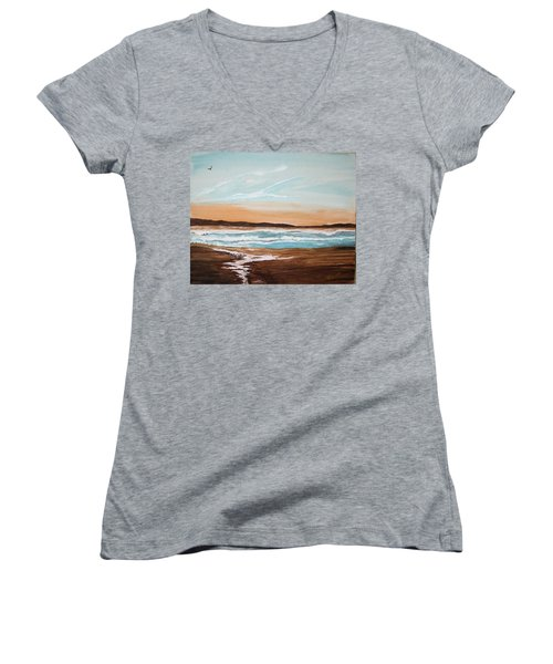At The Beach Women's V-Neck T-Shirt
