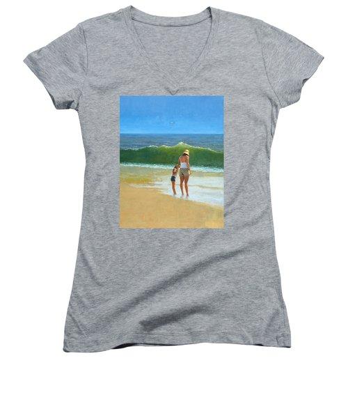 At The Beach Women's V-Neck