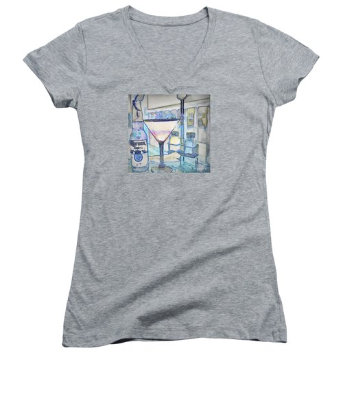 At The End Of The Day Women's V-Neck T-Shirt (Junior Cut) by Pamela Blizzard