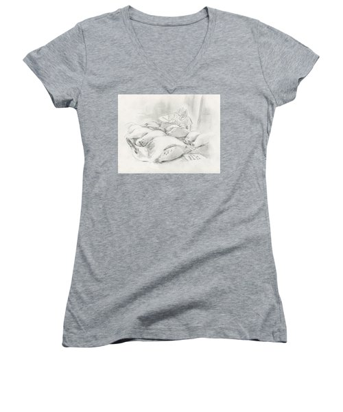 At The Museum II Women's V-Neck
