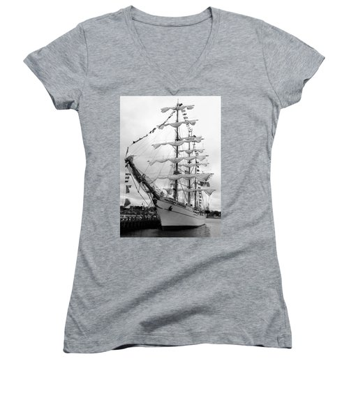 At The Pier Women's V-Neck (Athletic Fit)