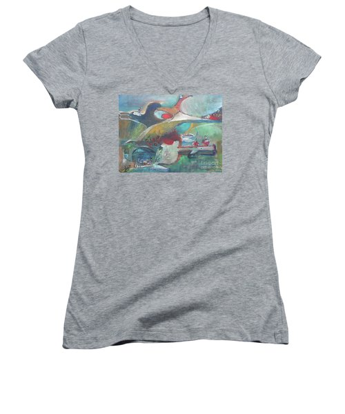At The Sea Shore Women's V-Neck