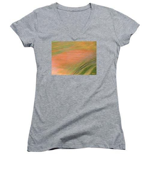 At The Subtle Feeling Level Women's V-Neck T-Shirt
