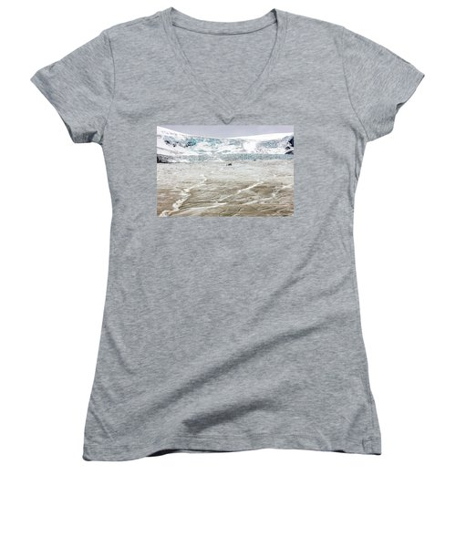 Athabasca Glacier With Guided Expedition Women's V-Neck