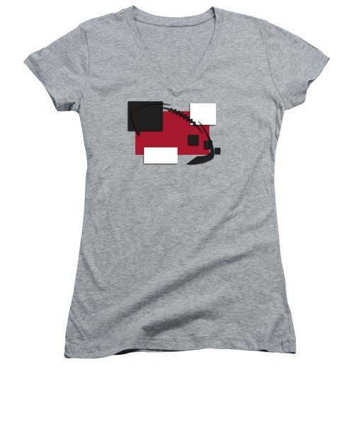 Atlanta Falcons Abstract Shirt Women's V-Neck T-Shirt (Junior Cut) by Joe Hamilton