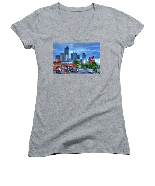 Atlanta Landmark The Varsity Art Women's V-Neck T-Shirt