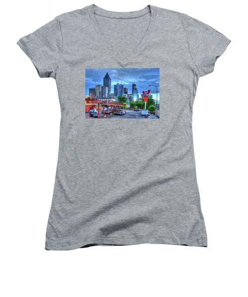 Atlanta Landmark The Varsity Art Women's V-Neck T-Shirt