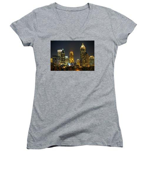 Atlanta Skyscrapers  Women's V-Neck (Athletic Fit)