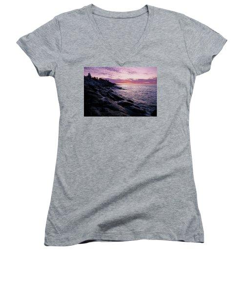 Atlantic Dawn Women's V-Neck T-Shirt