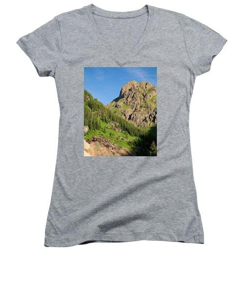 Women's V-Neck T-Shirt (Junior Cut) featuring the photograph Atlas Mine by Steve Stuller