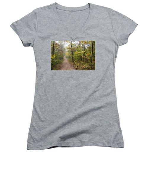 Autumn Afternoon Women's V-Neck T-Shirt (Junior Cut) by Ricky Dean