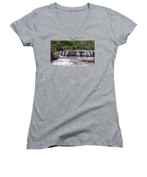 Au Train Falls Women's V-Neck T-Shirt