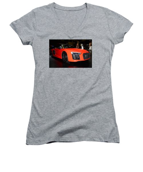 Audi R8 Women's V-Neck T-Shirt