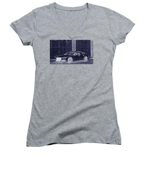 Audi Rs7 Vossen  Women's V-Neck T-Shirt