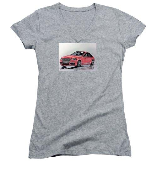 Audi S4 Women's V-Neck T-Shirt