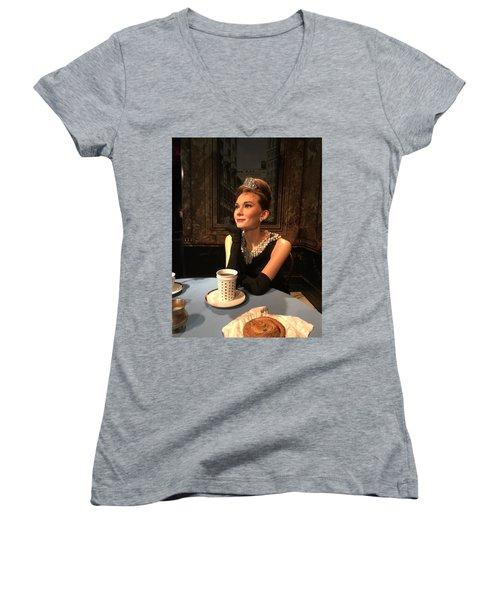 Audrey Hepburn Women's V-Neck T-Shirt