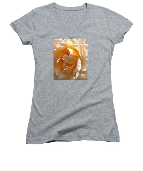 August Rose 1 Women's V-Neck T-Shirt