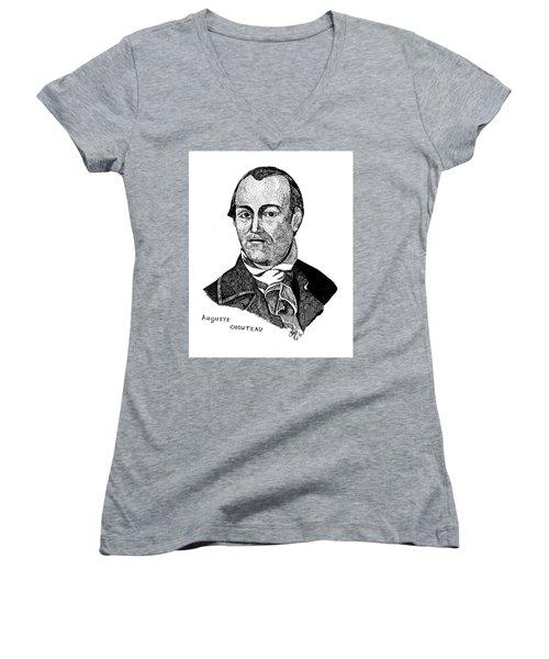 Auguste Chouteau Women's V-Neck T-Shirt