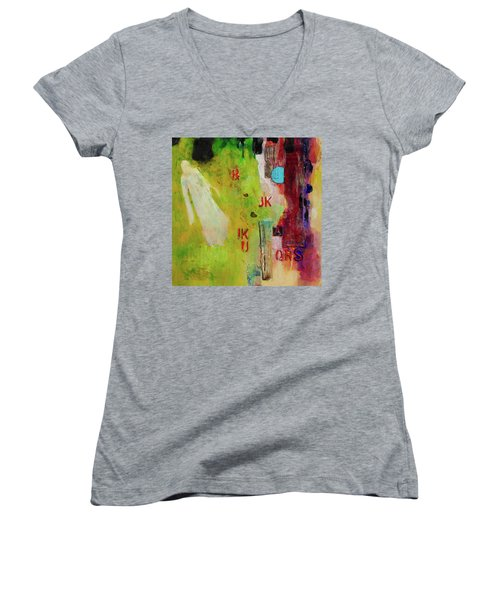 Aunties Visit Women's V-Neck T-Shirt