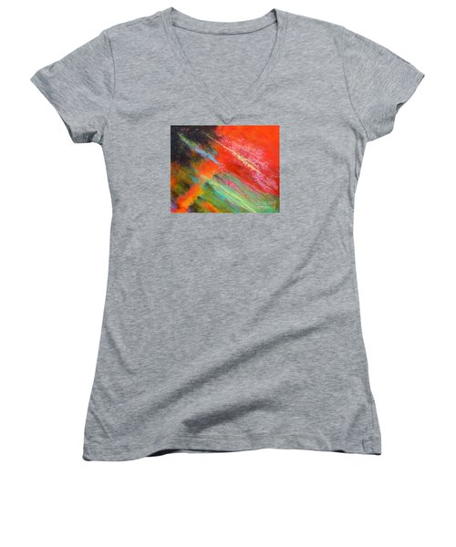 Fantasies In Space Painting Series. Title. Aurora De Fiero. Women's V-Neck (Athletic Fit)