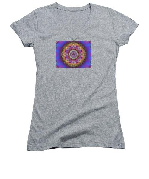 Aurora Graphic 026 Women's V-Neck T-Shirt (Junior Cut) by Larry Capra