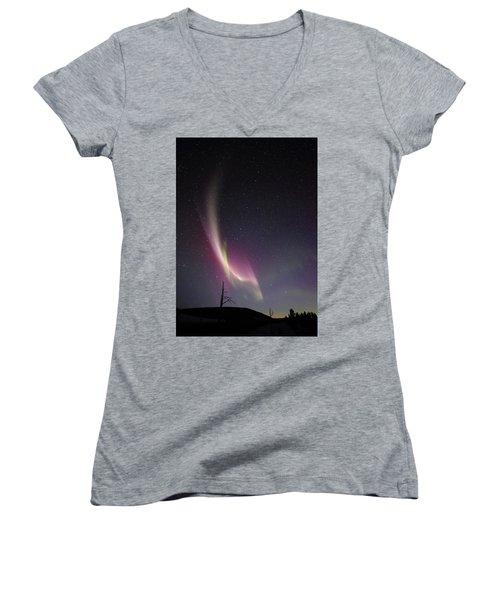 auroral Phenomonen known as Steve, 5 Women's V-Neck