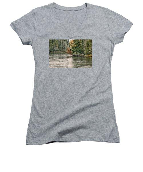 Ausable River 9899 Women's V-Neck T-Shirt