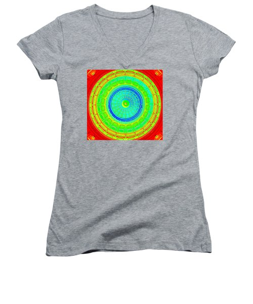 Austin Capitol Dome - 2 Women's V-Neck (Athletic Fit)