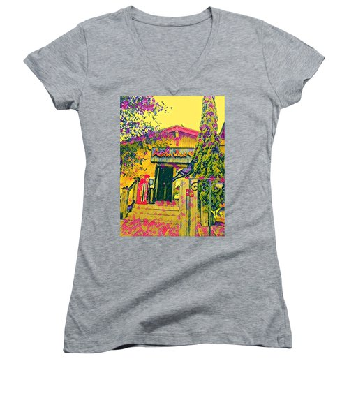 Austin Java Electric Women's V-Neck