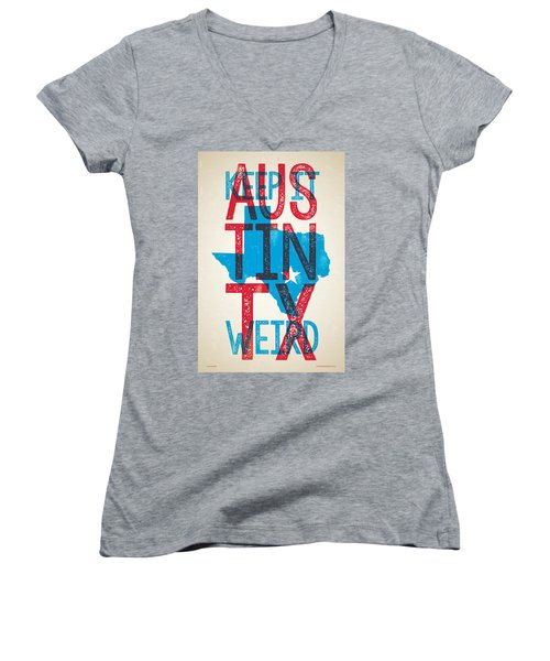 Austin Texas - Keep Austin Weird Women's V-Neck (Athletic Fit)