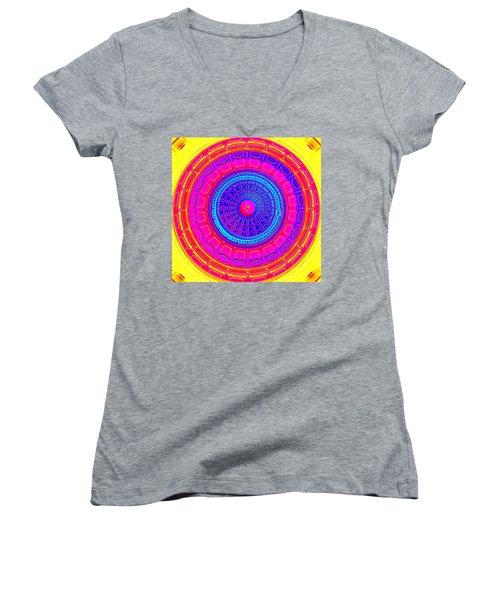 Austin Dome - A Women's V-Neck T-Shirt (Junior Cut) by Karen J Shine
