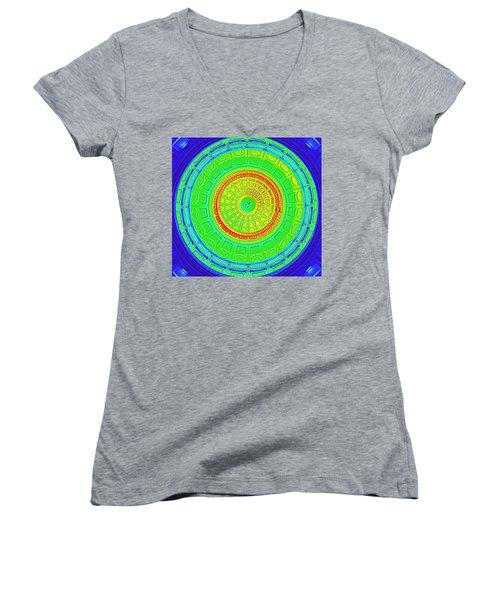 Austin Dome - B Women's V-Neck T-Shirt (Junior Cut) by Karen J Shine