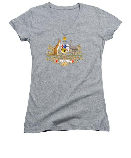 Australia Coat Of Arms Women's V-Neck