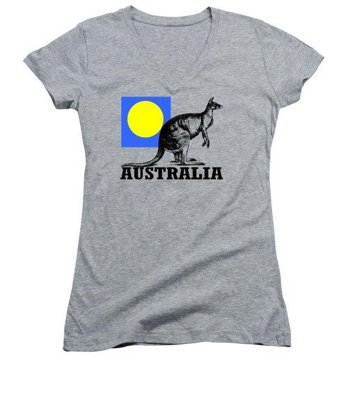 Australia-kangaroo Women's V-Neck T-Shirt