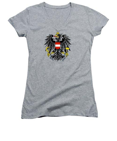 Austria Coat Of Arms Women's V-Neck