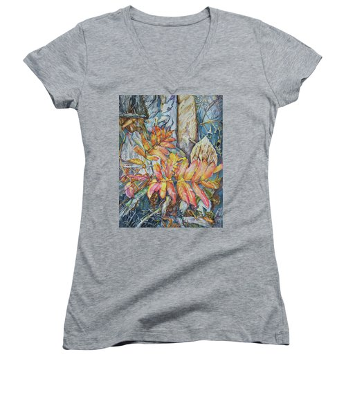 Autum Magic Women's V-Neck T-Shirt