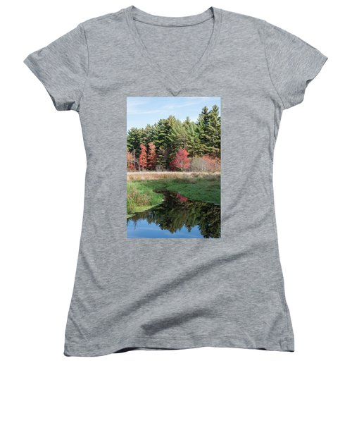 Autumn At The River Women's V-Neck (Athletic Fit)