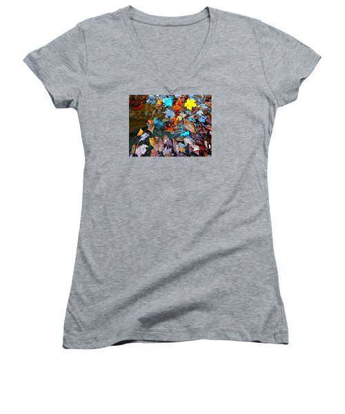 Autumn B 2015 124 Women's V-Neck T-Shirt (Junior Cut) by George Ramos