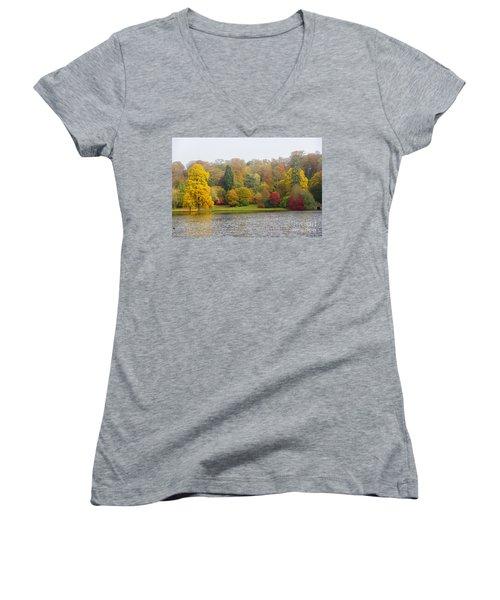 Autumn Colous Women's V-Neck