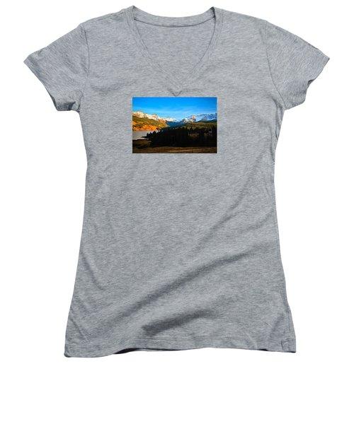Autumn Drama Women's V-Neck T-Shirt (Junior Cut) by Laura Ragland
