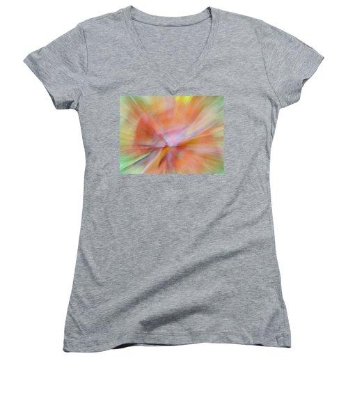 Autumn Foliage 13 Women's V-Neck T-Shirt (Junior Cut) by Bernhart Hochleitner
