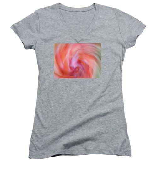 Autumn Foliage 15 Women's V-Neck T-Shirt (Junior Cut) by Bernhart Hochleitner